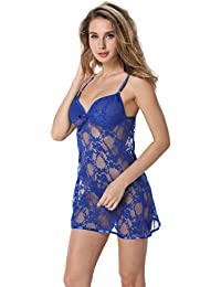 Women Nightwear Babydoll Lingerie Lace Mini Dress Chemise, Gift Idea