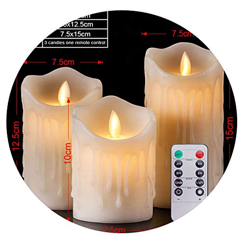 - LED Candles with Remote Control Battery Operated Candles Electric Home Wedding Decoration,S Sets with Remote