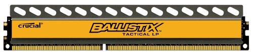 Crucial Ballistix Tactical Low Profile 4GB Single DDR3-1600 1.35V UDIMM 240-Pin Memory Module BLT4G3D1608ET3LX0