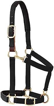 "Weaver Leather Padded Breakaway Adjustable Chin & Throat Snap Halter, 1"" Average Horse or Yearl"
