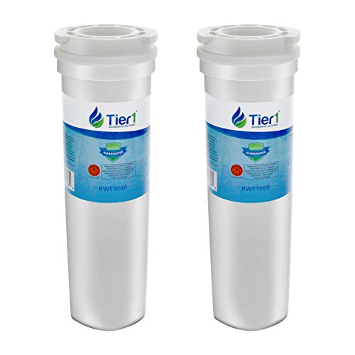 Tier1 Replacement for Fisher & Paykel 836848, 836860 Refrigerator Water Filter 2 Pack (Fisher Paykel Glass Refrigerator)