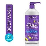 Alba Botanica Very Emollient French Lavender Bath & Shower Gel, 32 oz.