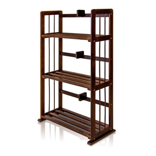 espresso bookcase narrow - 9