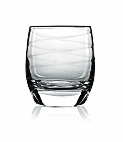 Luigi Bormioli Set of 4 Romantica Double Old-Fashioned Glasses, 12.75-Oz. by Luigi Bormioli