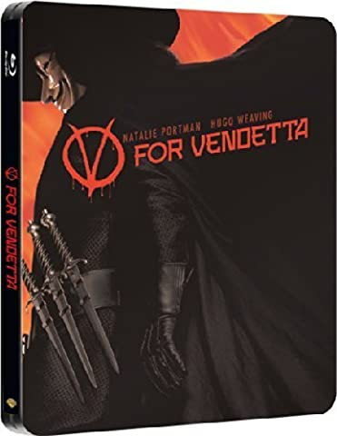 V For Vendetta UK Limited to 2,500 Copies Blu-Ray Steelbook Edition Region Free (V Vendetta Steelbook)