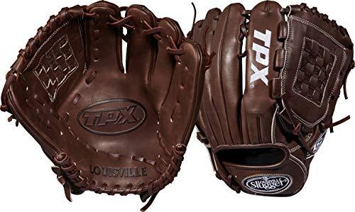 Louisville Slugger 2018 Tpx Pitcher's Baseball Glove - Right Hand Throw Dark Brown/White, 11.75