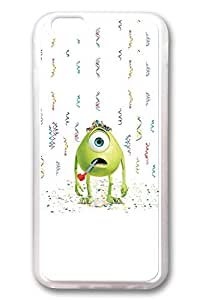 iPhone 6 Case, iPhone 6 Cases - Top Quality Clear Soft Case for iPhone 6 Mike Wazowski Monsters University Stylish Crystal Clear Rubber Case Cover for iPhone 6 4.7 Inches