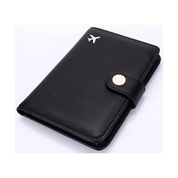 Harry Potter Hogwarts Passport Cover Leather Passport Case Holder Unisex Wallet