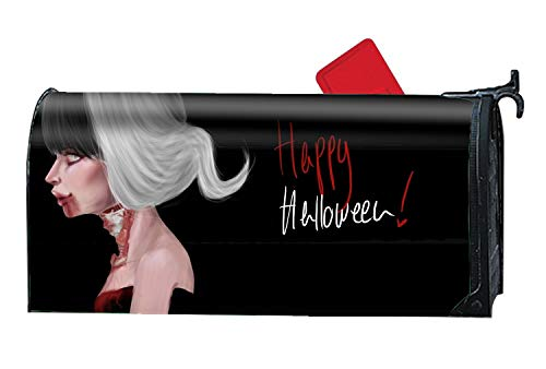BYUII Customized Magnetic Mailbox Cover Home Garden Mailbox Wraps Standard - Holiday Halloween Zombie
