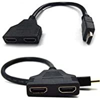 1080P HDMI Male to Dual HDMI Female 1 to 2 Way Splitter Cable Adapter Converter For HDTV Branded Master Cables
