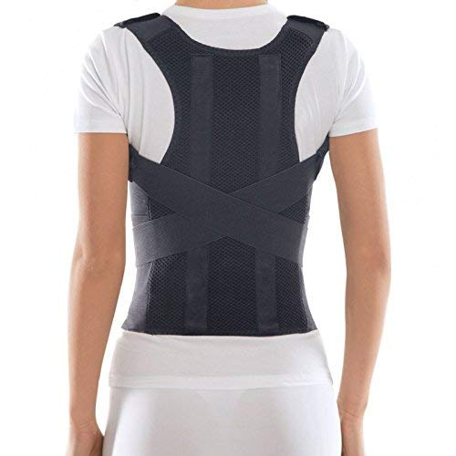TOROS-GROUP Comfort Posture Corrector Clavicle and Shoulder Support Back Brace, Fully Adjustable for Men and Women Medium Black ()