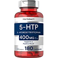 Horbaach 5HTP 400mg   180 Capsules   Huge Size & Max Potency   Non-GMO, Gluten Free   5 Hydroxytryptophan Extra Strength…