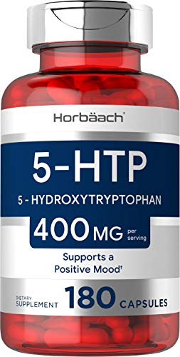 5HTP Supplement | 400mg 180 Capsules | 5-HTP Extra Strength| Non-GMO, Gluten Free | 5 Hydroxytryptophan | by Horbaach