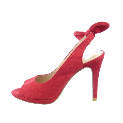 Sopily - damen Mode Schuhe Pumpe Dekollete Stiletto Knoten - Rot