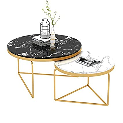 Contemporary Round Coffee Table Set Coffee End Tables With Metal