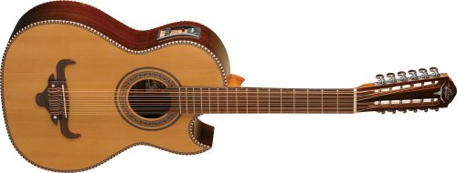 Oscar Schmidt OH52SE Solid Cedar Top Bajo Sexto Acoustic-Electric Guitar with Deluxe Padded Gig Bag