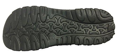Gummi-Sandale-Pantoffel der Suave-Männer bequemer Duschstrand-Schuh-Beleg auf Flipflop Schwarz