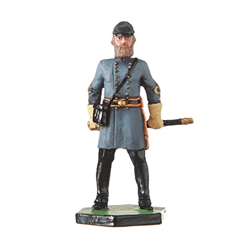 (danila-souvenirs Tin Toy Soldier US Civil war Confederates General Stonewall Jackson Hand Painted Metal Sculpture Miniature Figurine 54mm)