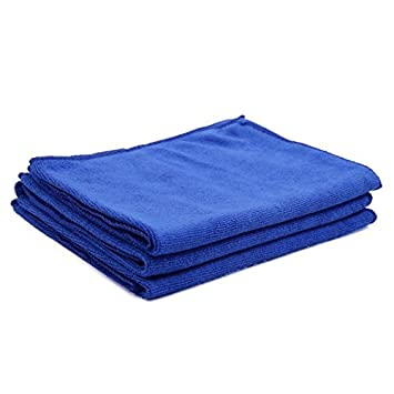 DealMux 3pcs 65 x 33cm 250GSM paños de microfibra toalla de limpieza para el lavado de autos Azul: Amazon.es: Coche y moto