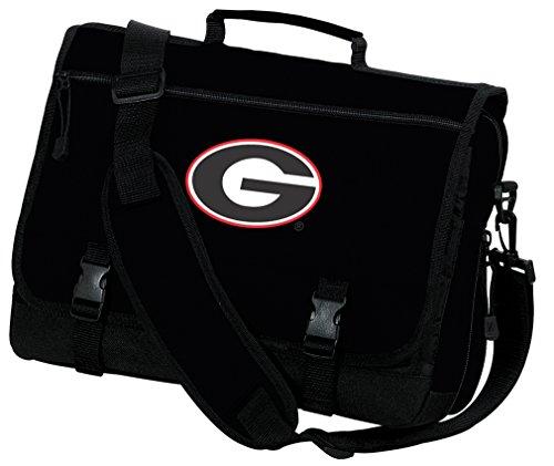 University of Georgia Laptop Bag Georgia Bulldogs Computer Bag or Messenger Bag by Broad Bay