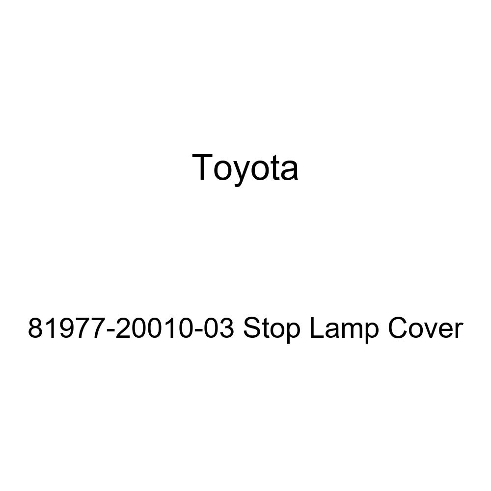 TOYOTA Genuine 81977-20010-03 Stop Lamp Cover