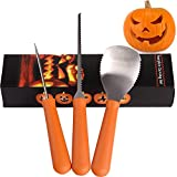 Halloween 3 Piece Professional Pumpkin Carving Kit Tool Sets, Premium Pumpkin Carver, Sturdy Heavy Duty Stainless Steel Pumpkin Tools Crafted For Efficiency Easily Carve Sculpt Jack-O-Lanterns
