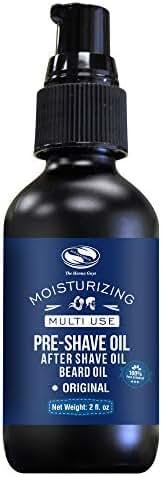 2 fl. Oz Fragrance Free Pre Shave oil/After Shave Oil/Beard Oil, excellent pre shave oil for Men with sensitive skin
