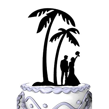 41cT4wBGuvL._SS450_ The Best Palm Tree Wedding Cake Toppers