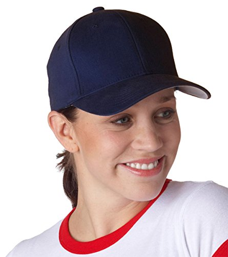 (Yupoong 6377 Flexfit Brushed 6-Panel Cap S/M Navy)