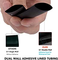 """1 ft. piece Black Heavy Duty Adhesive-Lined Shrink Tubing 3//4/"""" Dia"""