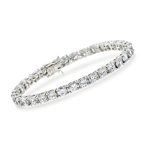 Ross-Simons 15.00 ct. t.w. CZ Tennis Bracelet in Sterling Silver ()