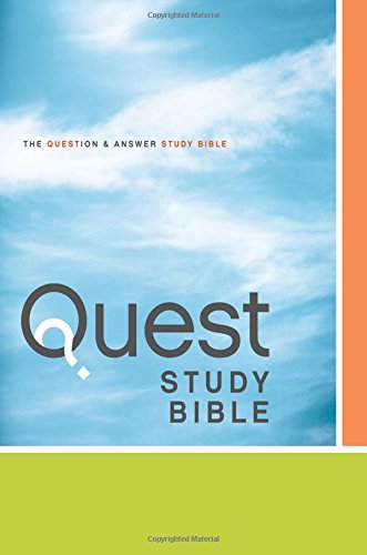 NIV, Quest Study Bible, Hardcover: The Question and Answer Bible (The Quest Hardcover compare prices)