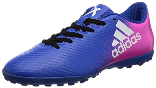 Adidas X 16.4 Turf Fußballschuhe Multinocken Herren blau weiß rosa