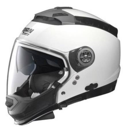 Nolan N44 Trilogy Solid Helmet (Metal White, Small)