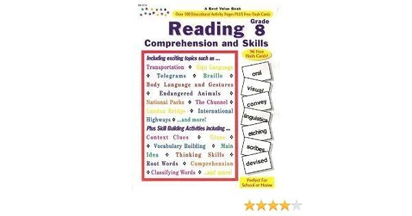 Workbook free high school reading comprehension worksheets : Amazon.com: Reading Comprehension and Skills: Grade 8 ...