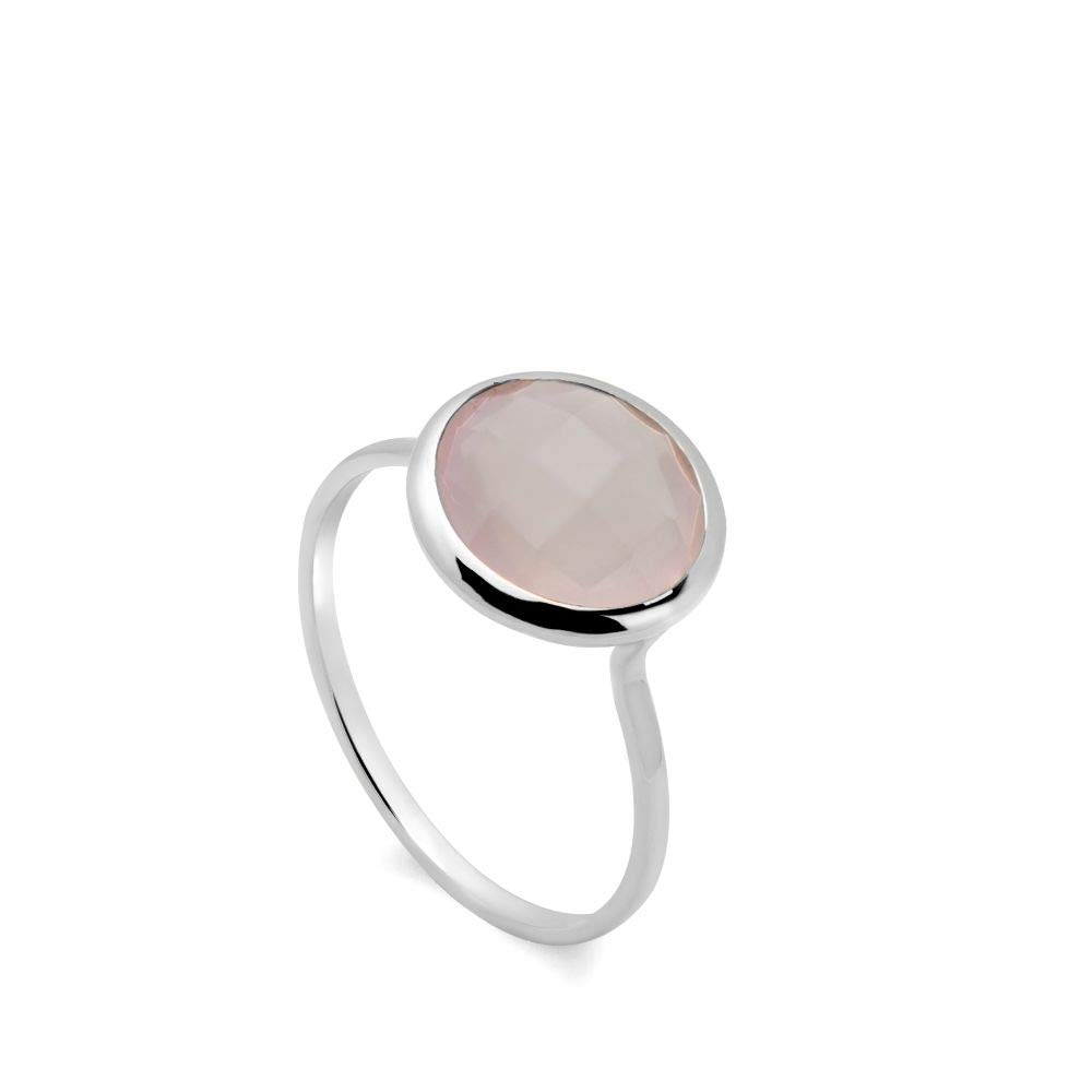 October Birthstone Ring Gold Plated R1893 Natural Rose Quartz Ring Rose Quartz Ring Gemstone Ring Boho Ring Sterling Silver Ring