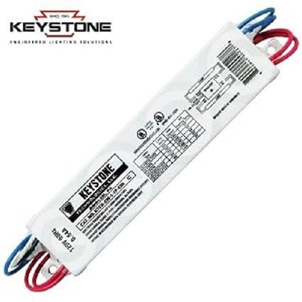 keystone ballasts 2 lite f20t12, class b, npf, electronic ballast