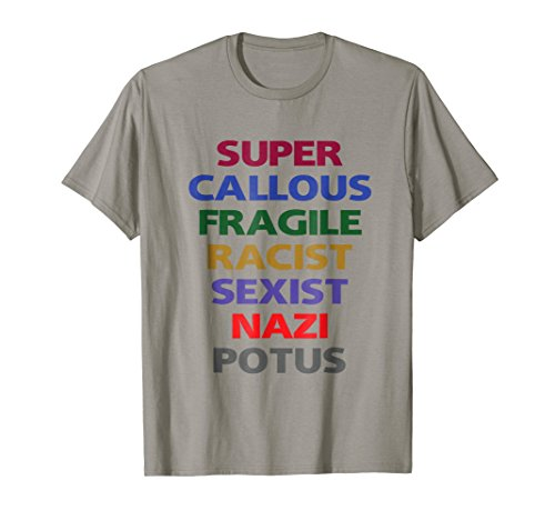 Mens SUPER CALLOUS FRAGILE POTUS T SHIRT Anti Trump Tee notmyores 3XL Slate