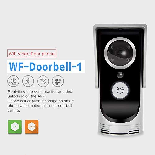 Amyove WiFi Video Audio Camera Door Bell Phone Wireless Doorbell Intercom for Android iOS