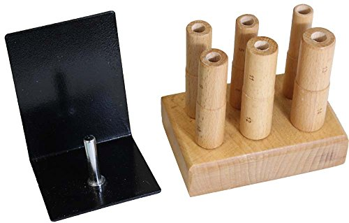 (HAWK Small Size 3 inch Wooden Step Mandrel Set For Rings - TJ9717W-6)