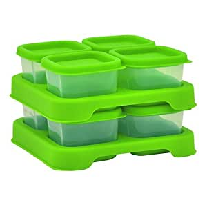 green sprouts Polypropylene, 8-2 oz Freezer Cubes, Green