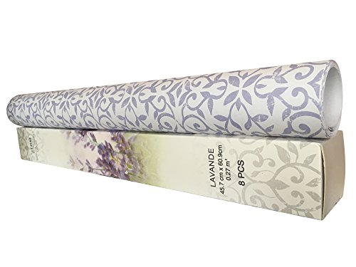 JTHM 8 SHEETS Scented Drawer & Shelf Liners - Lavender Fragranced Drawer by JTHM