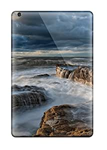 Easter Karida's Shop Best Tpu Fashionable Design Water Waves On Rocks Rugged Case Cover For Ipad Mini New