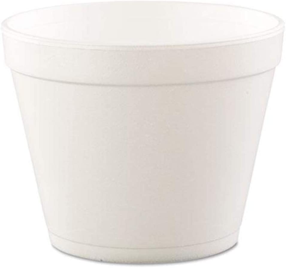 Dart Insulated Foam Food Container, White, 24 oz, 25/Bag