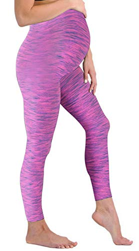 Touch Me Maternity Leggings Black Navy Grey Soft Solid Stretch Seamless Tights One Size Fits All Active Wear Yoga Gym Clothes (Maternity - One Size Fits All, Pink Active Wear)