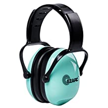 EZARC Comfortable Women and Kids Safety Ear Muffs 30dB for Hearing Protection - Noise Reduction Earmuffs for Shooting Sports Events Reading, Green