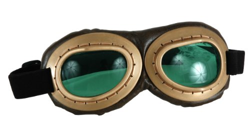 elope Aviator Goggles, Brown/Green, One - Online Aviator
