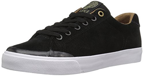 C1RCA Men's AL50R Adrian Lopez Durable Cushion Sole Skate Skateboarding Shoe, Black/Gold, 13 M (C1rca Footwear Sneakers)