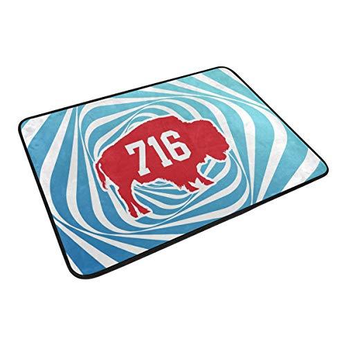 HCmusic Funny Doormat 716 Buffalo Door Mat- Welcome Entrance Rug Shoe Scraper for Indoor Outdoor Home, 23.6x15.7 Rubber Back