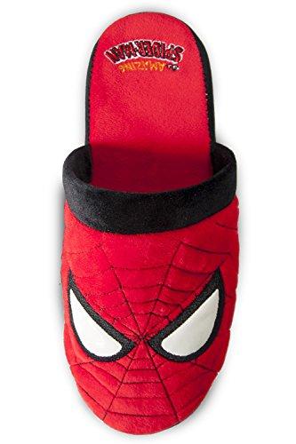 Official Marvel Superhéroe El Increíble Spider-Man Nuevo Plush Deslizamiento En Zapatillas De Mula Rojo